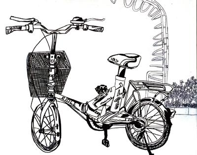 赵腾俊《自行车写生》 指导教师:白静