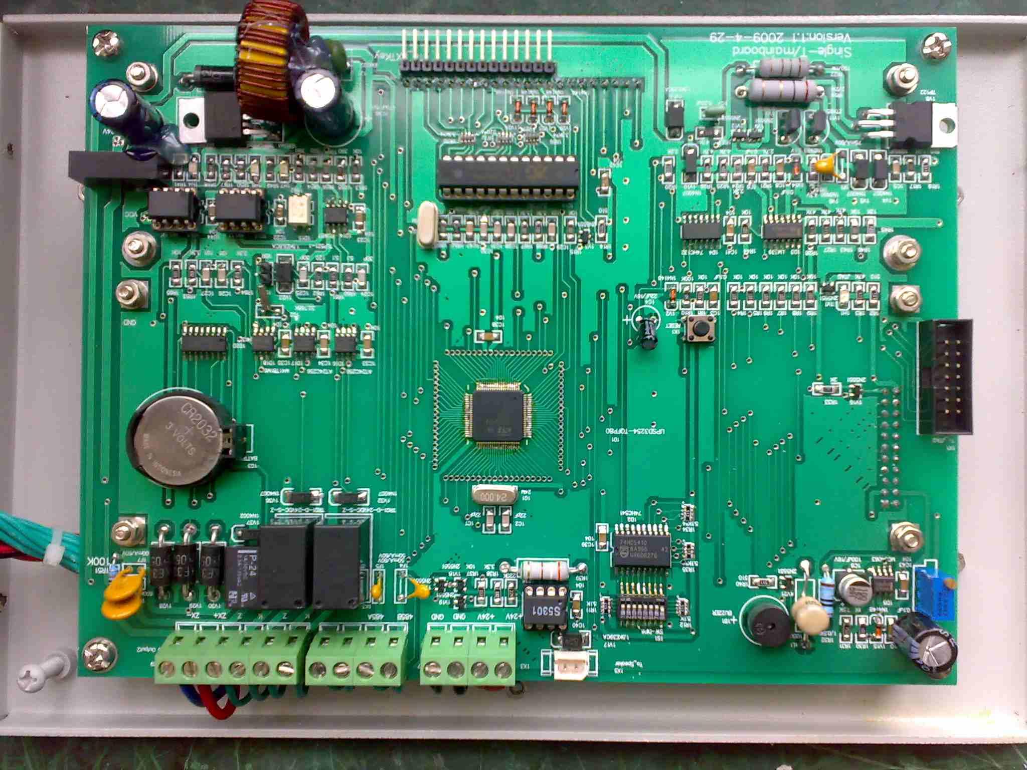 火灾报警控制器内部电路板分布图及名称