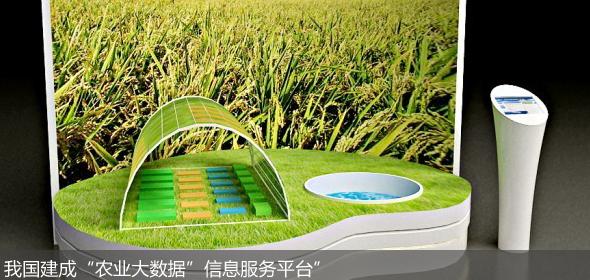 """我国建成""""农业大数据""""信息服务平台"""